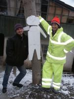 26 january 022 serge and i with my polystyrene snow man 1614