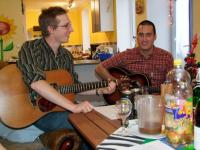Jon and Danny jamming carols-800
