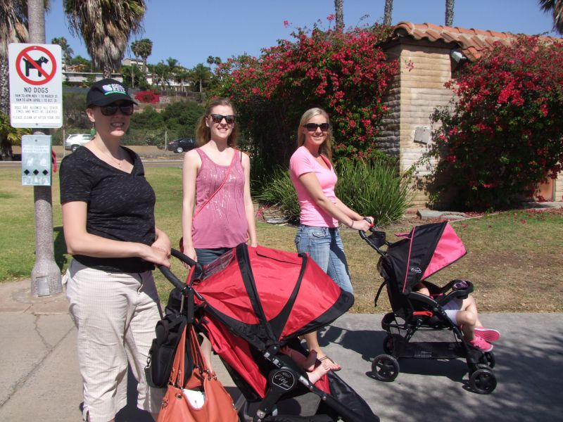 Sisters with strollers-800